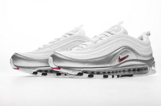 Nike Air Max 97 Silver White At5458 100 In 2020 Nike Air Max 97 Nike Air Max Nike Fashion Shoes