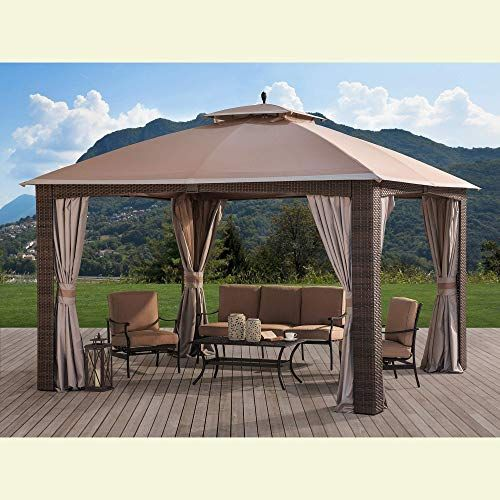 New Sunjoy 110109028 Original Replacement Canopy Augusta Wicker Gazebo 10x12 Ft L Gz1190pst Sold Biglots Khaki Online Tophitsgoods In 2020 Gazebo Replacement Canopy Canopy
