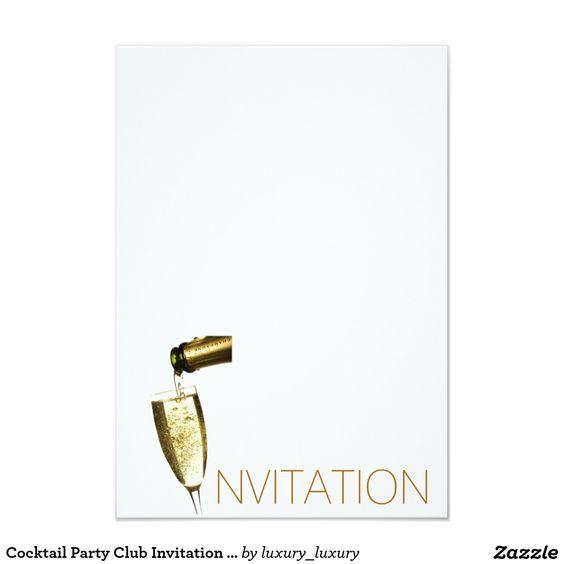 Cocktail Party Club Invitation Vip Invitation