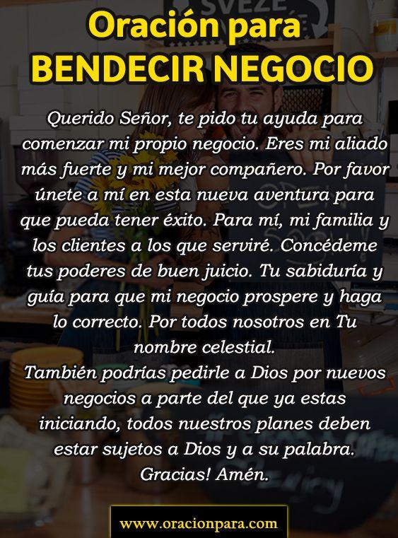 Oración Para Bendecir Mi Negocio Prayers Meditation Jesus