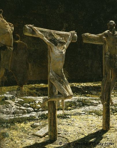 Nikolaï Nikolaevitch Gay Le calvaire entre 1831 et 1894 huile sur toile H. 2.8 ; L. 2.25 musée d'Orsay, Paris, France