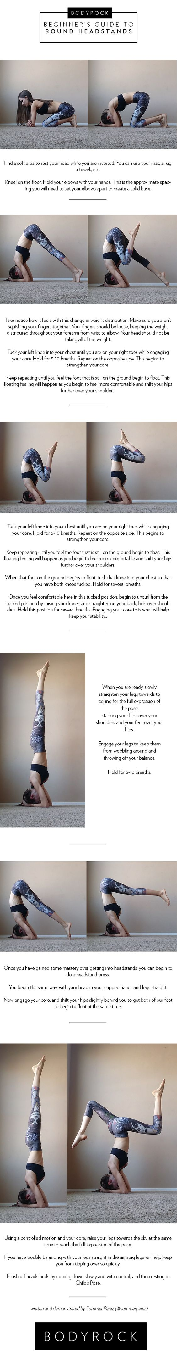 There are so many benefits to inversions and they are a lot of fun to do, but if you aren't ready for them, you can potentially injure yourself or scare yourself out of trying again. A strong core and strong upper body are necessary to keep you upside down in any inversion. Though you will ...