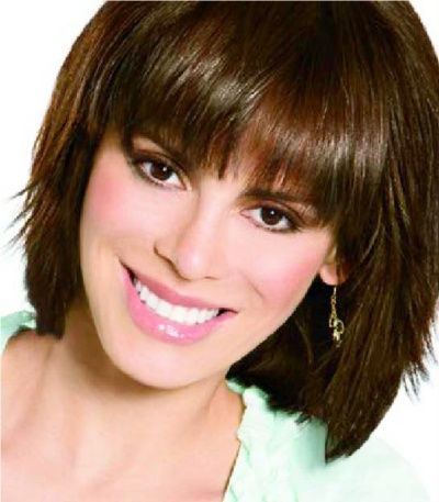 Astonishing Layered Bob With Bangs Layered Bob With Blunt Bangs I Almost Hairstyles For Women Draintrainus
