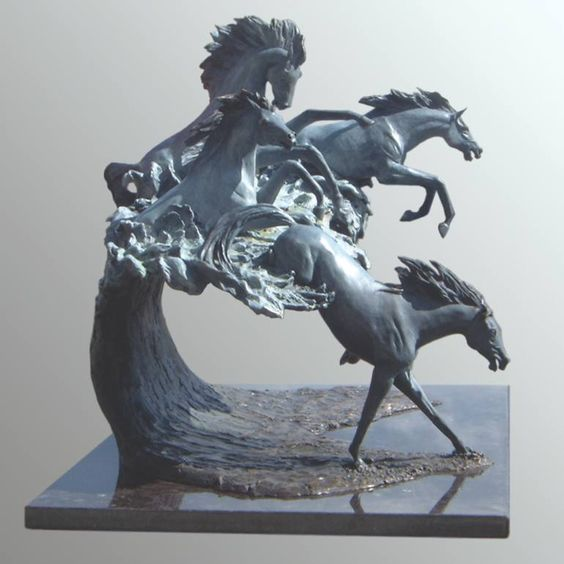 Horse Power Bronze Sculpture.