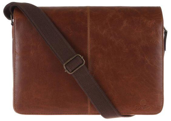 Mens Bag   Conkca Mycroft Leather Messenger Bag - Chestnut   #conkca #leather #bag #mensfashion #kjbeckett