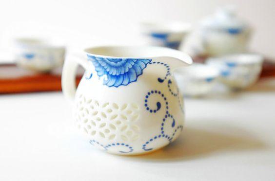 hand painted tea set tea cupsfine porcelainTraditional por dxlondon