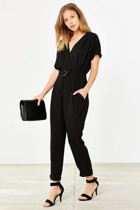 COPE Belted Jumpsuit - Urban Outfitters