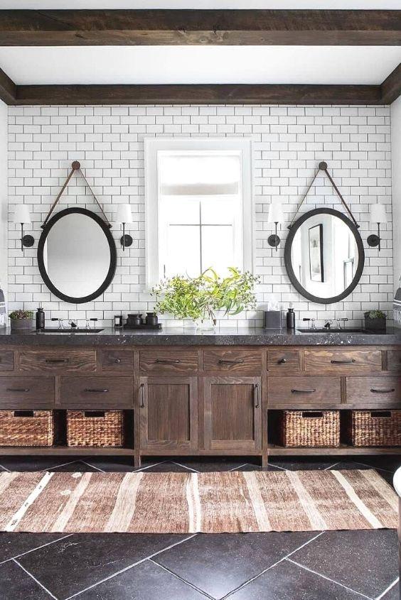 17 Chic Small Bathroom Ideas This Inspires You A Lot Eclectic Bathroom Modern Farmhouse Bathroom Bathrooms Remodel