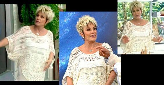 outra blusa da Ana Maria Braga.  http://feiticeiradasagulhas.blogspot.com.br/2013/01/croche-de-grampo.html