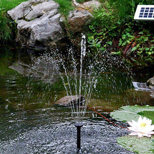 Sunspray SE 450 Springbrunnen f�r kleine Teiche, solarbetrieben, alternativer Batteriebetrieb, verstellbare Pumpe