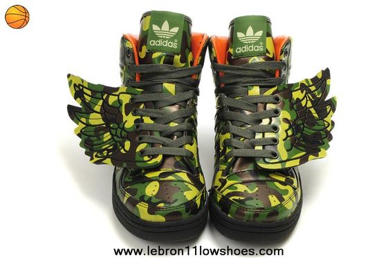 2014 Adidas X Jeremy Scott Wings Dark Camo Shoes