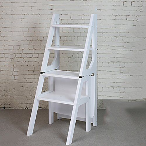 Ladder Chair Four Layers Solid Wood Modern Household Dual Use Step Stools Wooden Ladders Folding Dining Chair La Ladder Chair Wooden Chair Folding Wooden Stool