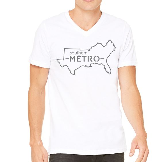 """Southern Metro"" Short Sleeve V-Neck"