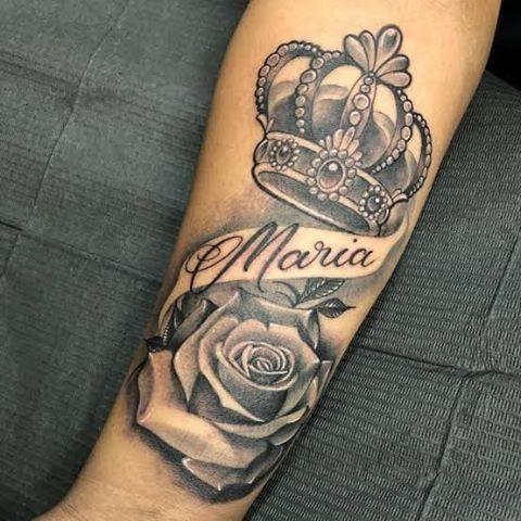 Pin De Sergio O En Tatuajes De Nombres Tatuajes De Rosas Para