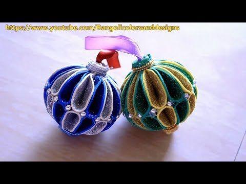 Diy Christmas Decoration Ornaments Using Glitter Foam Paper L Christmas Decoration Ideas L Foam Christmas Ornaments Paper Ornaments Diy Glitter Ornaments Diy