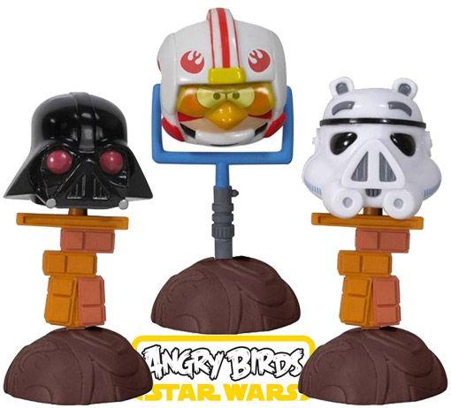 Bonecos Bobble Heads Angry Birds: Star Wars