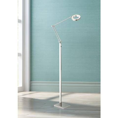 Possini Euro Lusk Led Task Floor Lamp 6v532 Lamps Plus Floor Lamp Task Floor Lamp Lamp