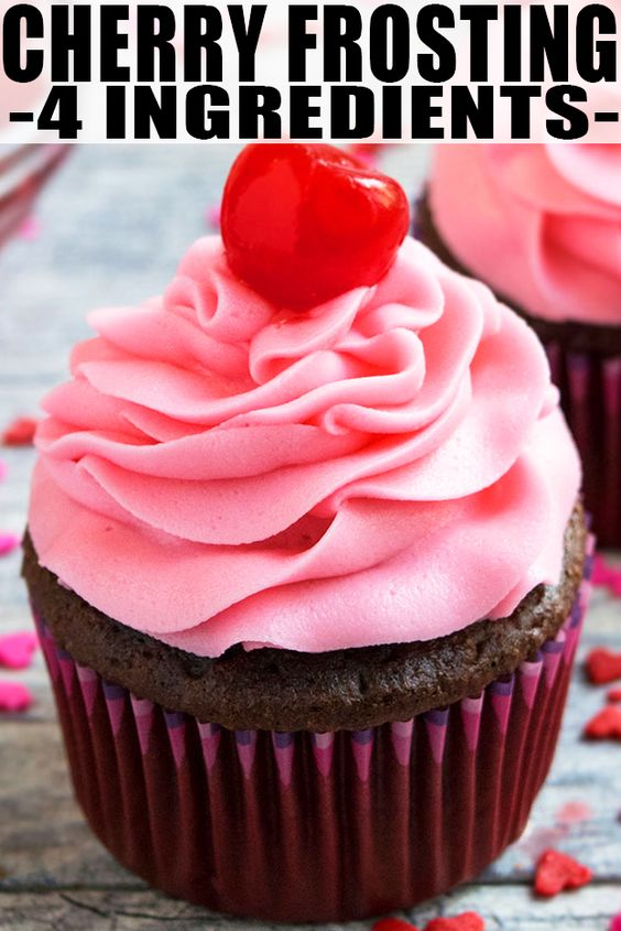 How To Make Buttercream Without Icing Sugar Uk Maraschino Cherry Frosting Recipe Creamy Whipped Quick Easy Cherry Buttercream Made With 4 Ingredi Frosting Recipes Cherry Frosting Recipe Cherry Frosting