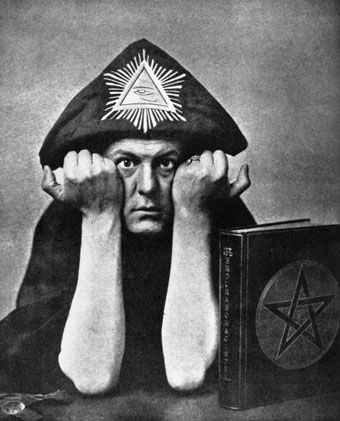 aleister crowley in 1912... Brilliant mind and living proof that if you stare too long into the abyss it also stares back at you.. and will eventually consume you completely