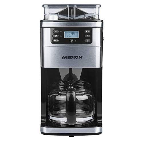 Kaffeemaschine Mit Mahlwerk Mit Acht Mahlstufen Und 1 050 Watt Leistung Programmierbarem Timer Lc Display Automat In 2020 Kaffeemaschine Filterkaffeemaschine Kaffee