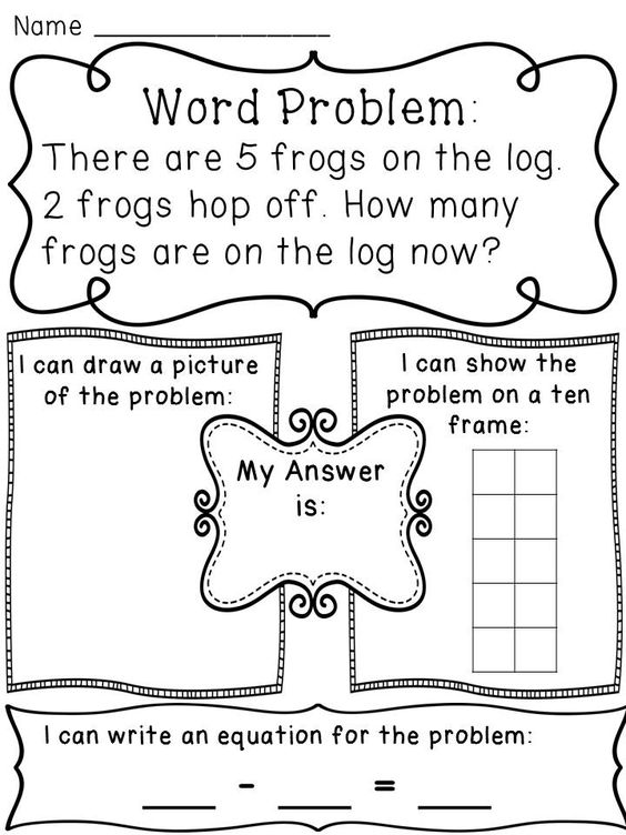 Subtraction within 10 Word Problems Worksheets – Subtraction Word Problems Worksheet