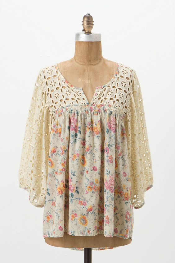 Immense Eyelet Blouse - Anthropologie.com