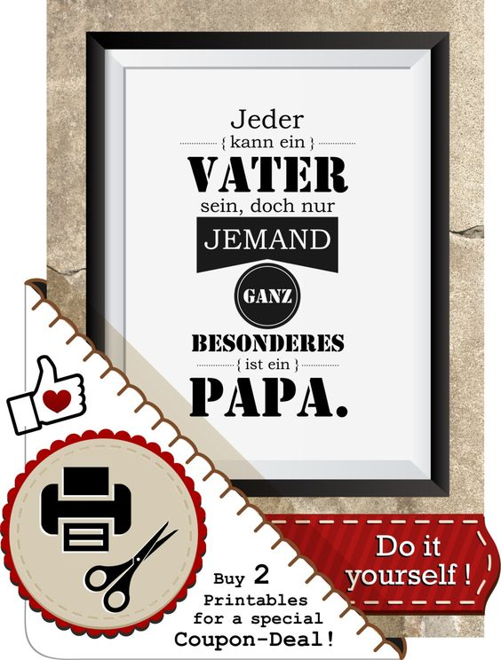 papa vater spruch printable mit geschenkanh nger bild. Black Bedroom Furniture Sets. Home Design Ideas
