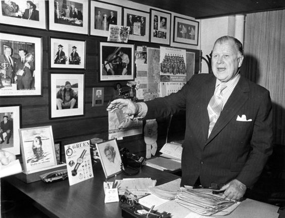 Harold Ballard, former president of Maple Leaf Gardens on Oct. 20, 1971. (Boris Spremo)