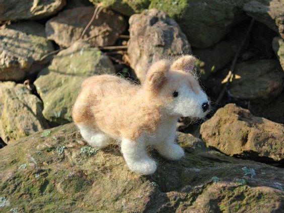 Needle Felted Corgi Sheepdog Soft Sculpture by TheWanderingEwe, $22.00