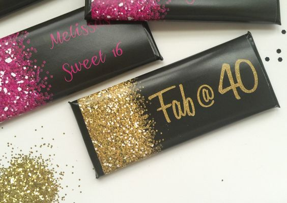 Glitter party decor, sparkle, Pink and black party, 40th birthday favors, black and gold party, hot pink, Sweet 16, 30th birthday, sixteen by UpANotchGifts on Etsy