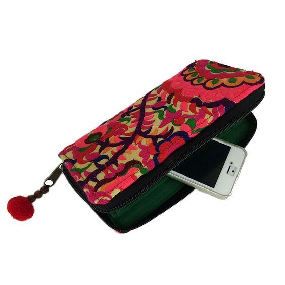 Blossom Zippered Wallet - Orange - Global Groove (P)