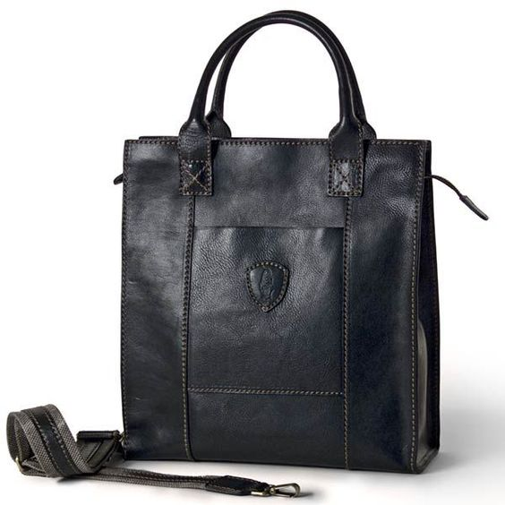 Tucci Leather Business Tote Briefcase