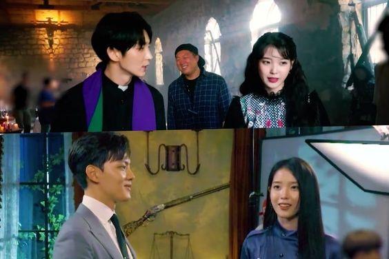 "Watch: IU Shows Superb Teamwork With Lee Joon Gi And Yeo Jin Goo Behind The Scenes Of ""Hotel Del Luna"""