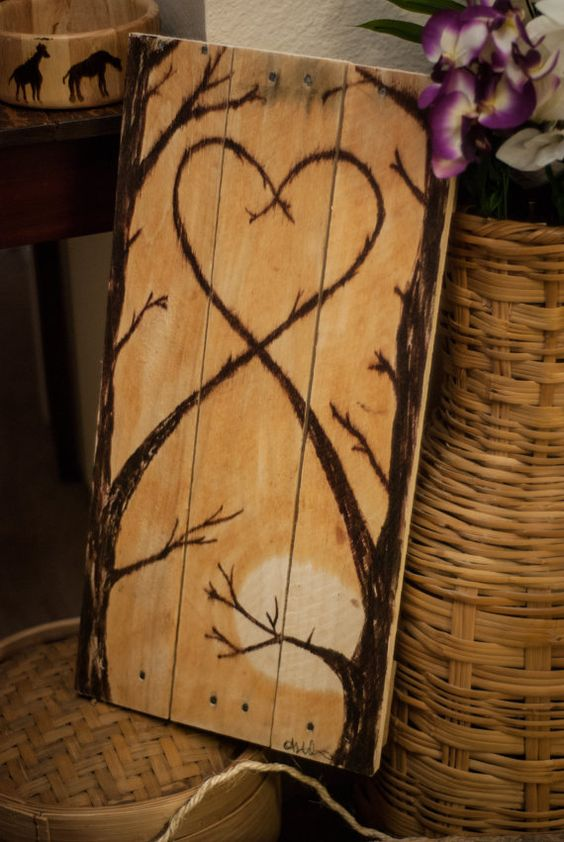 Check out this item in my Etsy shop https://www.etsy.com/listing/220782239/love-tree-painted-on-wood-indooroutdoor