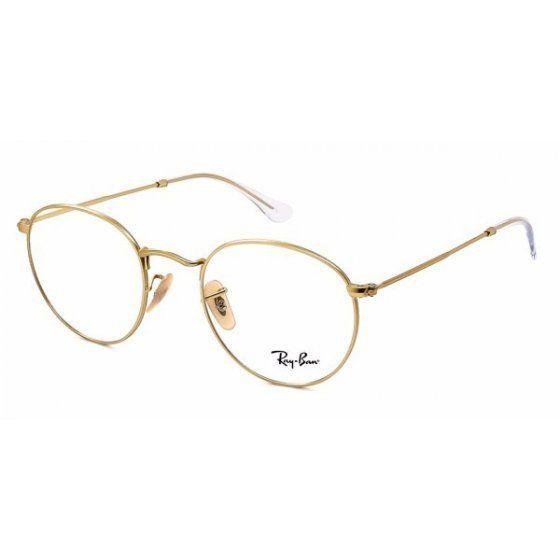 Armacao P Oculos De Grau Ray Ban Round Rx3447 Dourado