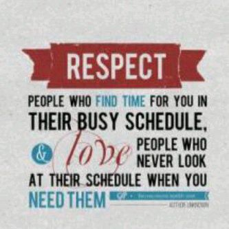 Respect and Love the people who..