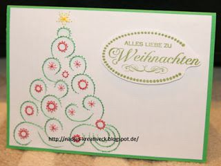 Kreatives Allerlei - Fadengrafik Weihnachten Baum