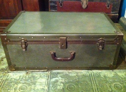 Great Condition Military Style Fiberglass Trunk. 1950u0027s McBride Baggage.  #repurposed #furniture #decor #table #industrial Http://www.bulletinboardu2026