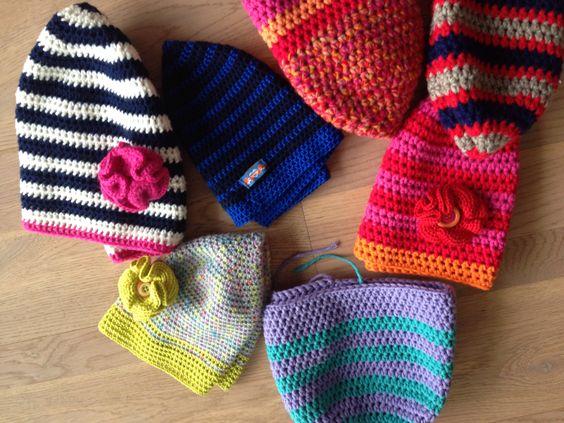 Häkel Wochenende / Häkel-Mützen / crochet weekend with beanies