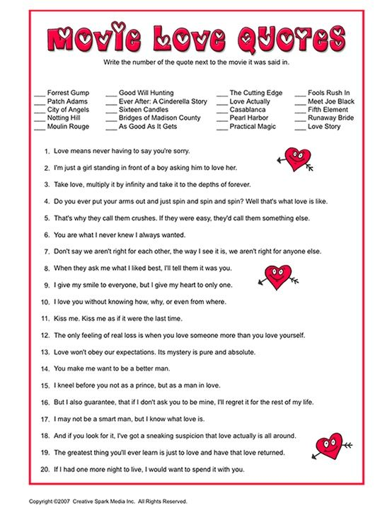 Movie love quotes bridal shower game it 39 s my party for Non traditional bridal shower games
