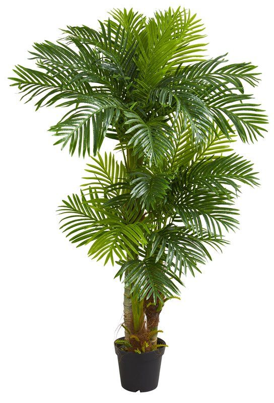 63 5 Artificial Palm Tree In Planter Artificial Tree Tropical Landscaping Artificial Plants