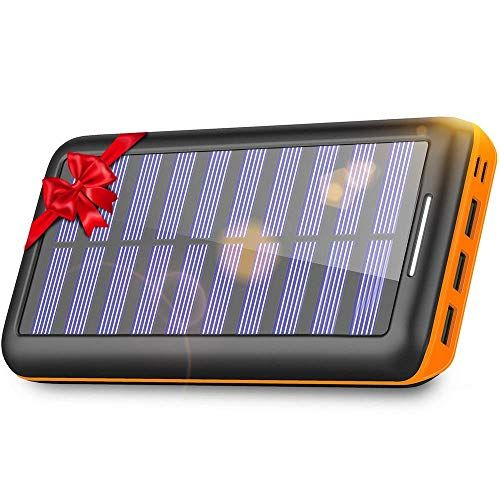 Solar Charger Kedron Portable Charger 22000mah External Battery Pack With Dual Input Port And 3 Usb Output Power Bank Phone Power Bank Solar Charger Powerbank
