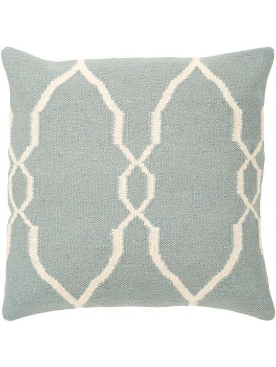 Jill Rosenwald Hourglass Pillow, Cloudy Sky
