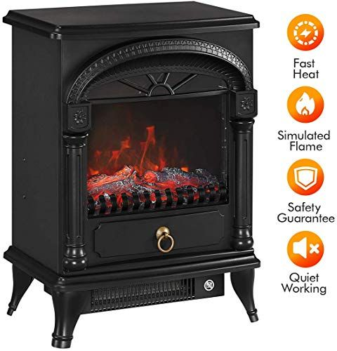 Amazing Offer On Tonglubao Electric Fireplace Stove Freestanding Fireplace Heater Indoor Portable Space Heater 3d Realistic Log Flame Effect Overheating Safety In 2020 Portable Space Heater Fireplace Heater Freestanding Fireplace