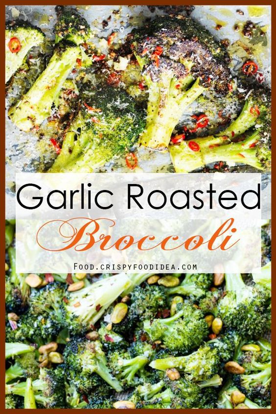 Oven Roasted Garlic Broccoli
