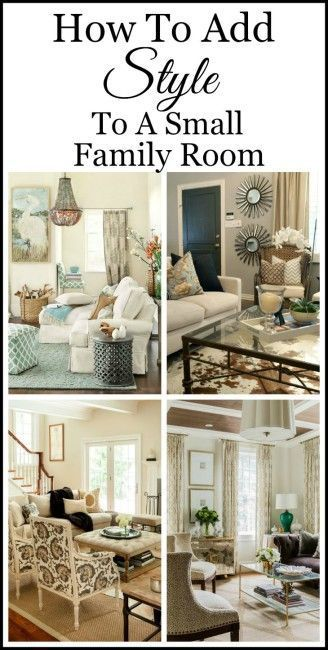 How To Add Style To A Small Family Room