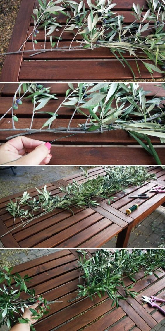 How to make an olive branch garland camp makery