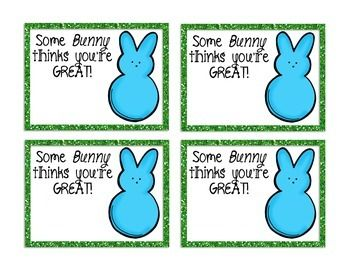 Some bunny thinks you're GREAT! Cute FREE Easter Tags