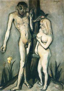 Adam and Eve - (Max Beckmann)