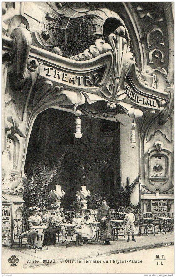 The Art Nouveau  Architecture | ... palace architecture Art Nouveau théatre Music hall - Delcampe.net